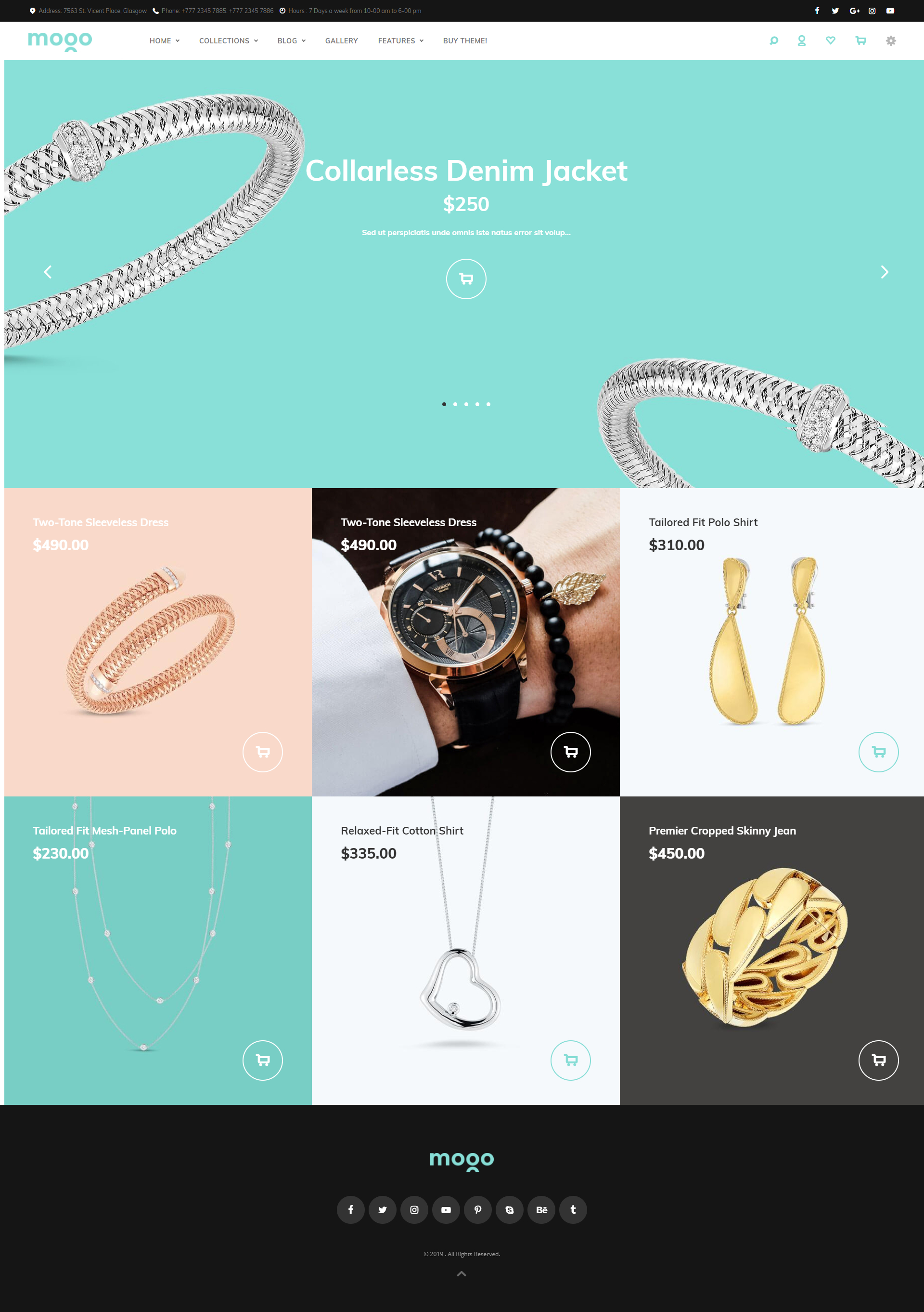 Jewelry shopify theme, live demo of Mogo Shopify theme #9