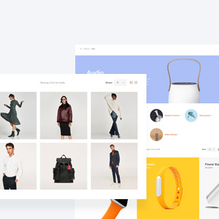 6 Types Customizable Product Category Page
